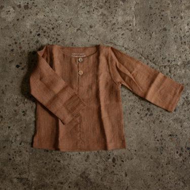 Linnen shirt kaneel Simply Grey